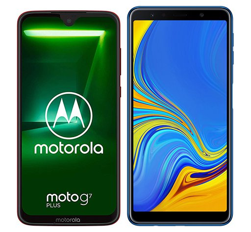 Smartphone Comparison: Motorola moto g7 plus vs Samsung galaxy a7 2018