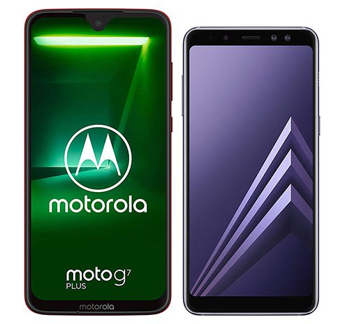 Smartphone Comparison: Motorola moto g7 plus vs Samsung galaxy a8