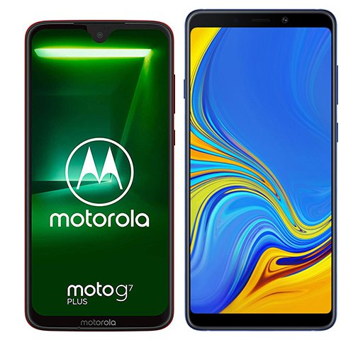 Smartphone Comparison: Motorola moto g7 plus vs Samsung galaxy a9