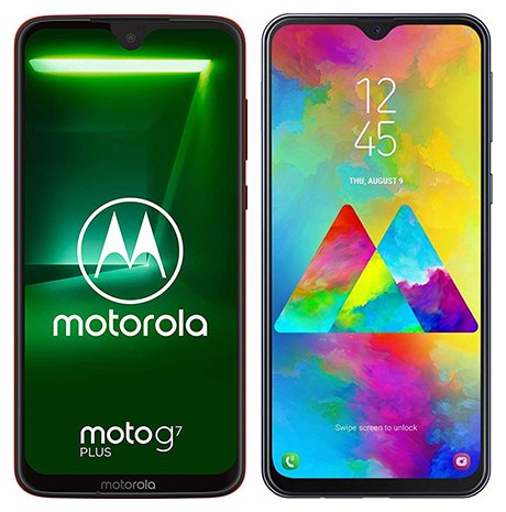 Smartphone Comparison: Motorola moto g7 plus vs Samsung galaxy m20