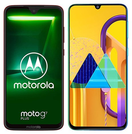 Smartphone Comparison: Motorola moto g7 plus vs Samsung galaxy m30s