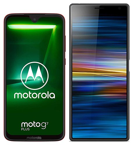 Smartphone Comparison: Motorola moto g7 plus vs Sony xperia 10 plus