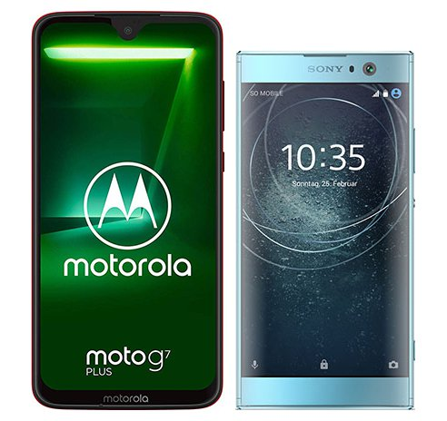 Smartphone Comparison: Motorola moto g7 plus vs Sony xperia xa2