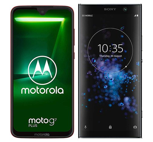 Smartphone Comparison: Motorola moto g7 plus vs Sony xperia xa2 plus