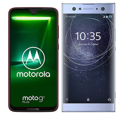 Smartphone Comparison: Motorola moto g7 plus vs Sony xperia xa2 ultra