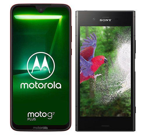 Smartphone Comparison: Motorola moto g7 plus vs Sony xperia xz1