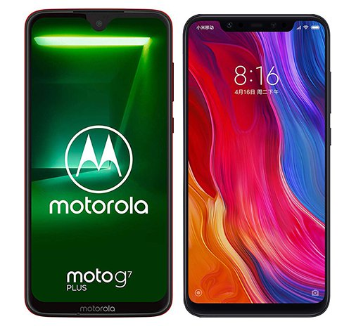 Smartphone Comparison: Motorola moto g7 plus vs Xiaomi mi 8
