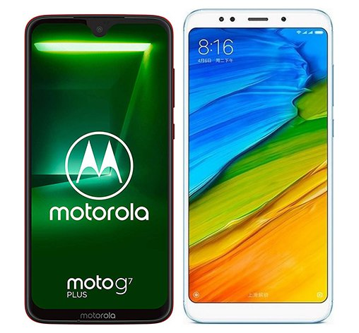 Smartphone Comparison: Motorola moto g7 plus vs Xiaomi redmi 5 plus