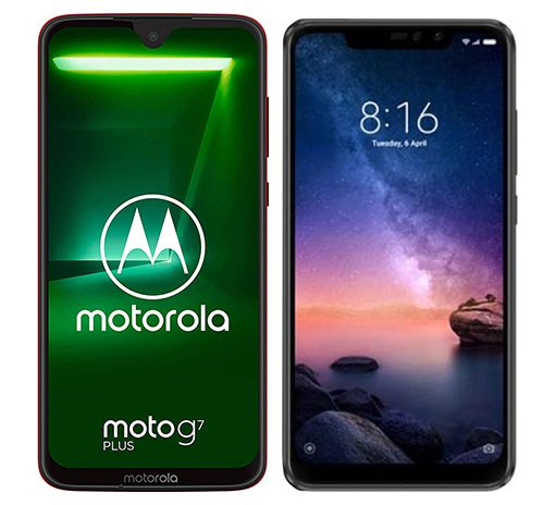 Smartphone Comparison: Motorola moto g7 plus vs Xiaomi redmi note 6 pro