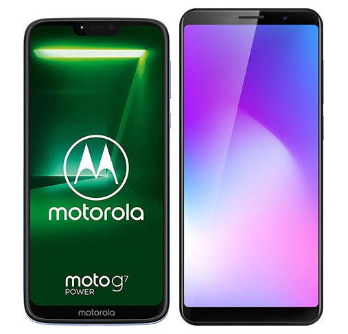 Smartphone Comparison: Motorola moto g7 power vs Cubot power