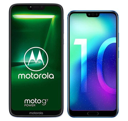 Smartphone Comparison: Motorola moto g7 power vs Honor 10