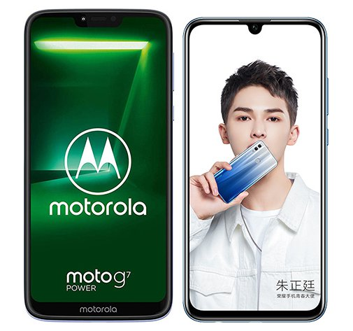 Smartphone Comparison: Motorola moto g7 power vs Honor 10 lite