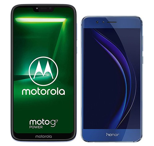 Smartphone Comparison: Motorola moto g7 power vs Honor 8