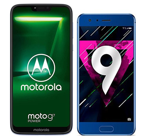 Smartphone Comparison: Motorola moto g7 power vs Honor 9