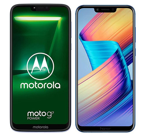 Smartphonevergleich: Motorola moto g7 power oder Honor play