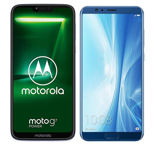 Smartphone Comparison: Motorola moto g7 power vs Honor view 10