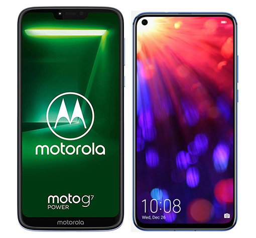 Smartphone Comparison: Motorola moto g7 power vs Honor view 20