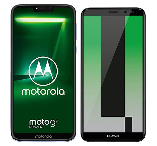 Smartphone Comparison: Motorola moto g7 power vs Huawei mate 10 lite