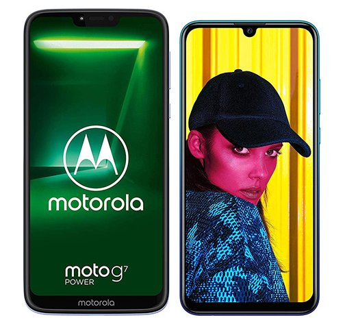 Smartphone Comparison: Motorola moto g7 power vs Huawei p smart 2019