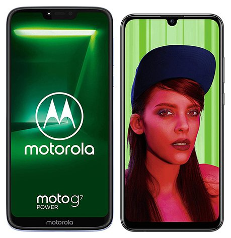 Smartphonevergleich: Motorola moto g7 power oder Huawei p smart plus 2019