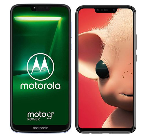 Moto G7 Power vs P Smart Plus. Size comparison
