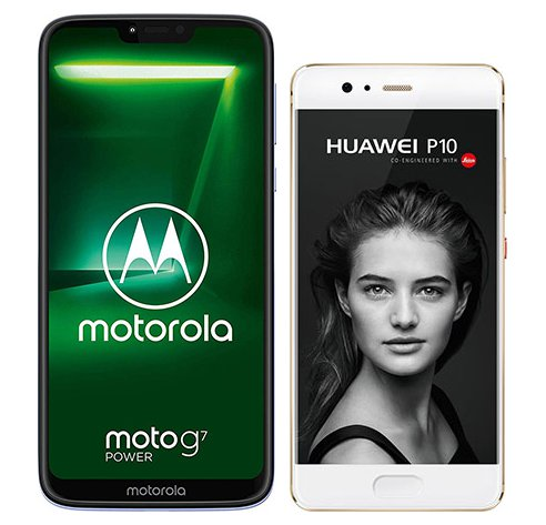 Smartphone Comparison: Motorola moto g7 power vs Huawei p10
