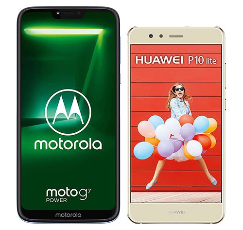 Smartphone Comparison: Motorola moto g7 power vs Huawei p10 lite