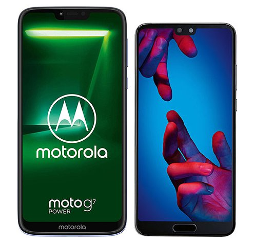 Smartphone Comparison: Motorola moto g7 power vs Huawei p20