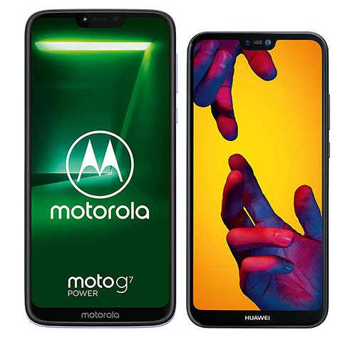 Smartphone Comparison: Motorola moto g7 power vs Huawei p20 lite