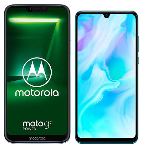 Smartphone Comparison: Motorola moto g7 power vs Huawei p30 lite