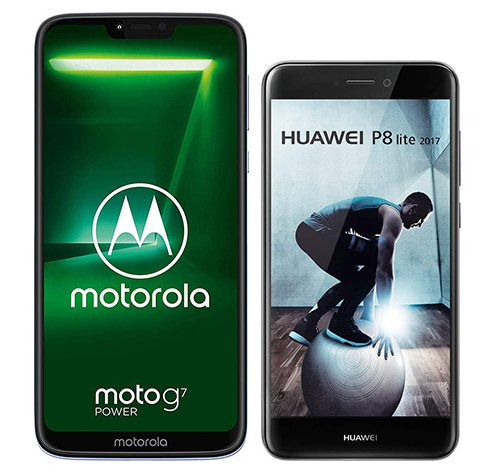 Smartphone Comparison: Motorola moto g7 power vs Huawei p8 lite