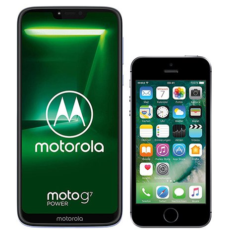 Smartphone Comparison: Motorola moto g7 power vs Iphone se