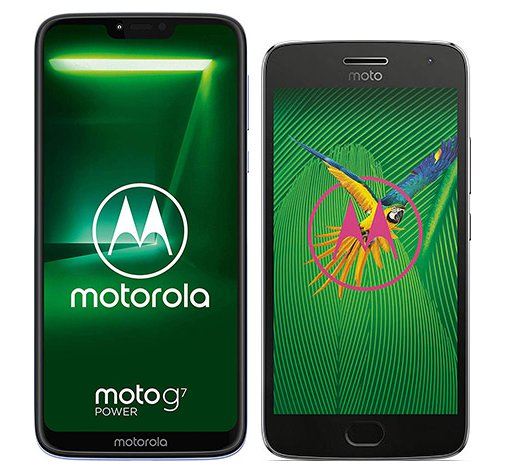 Smartphone Comparison: Motorola moto g7 power vs Motorola moto g5 plus