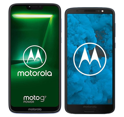 Smartphone Comparison: Motorola moto g7 power vs Motorola moto g6