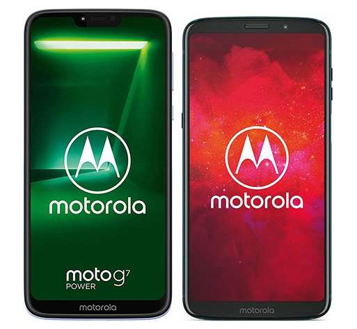Smartphone Comparison: Motorola moto g7 power vs Motorola moto z3 play