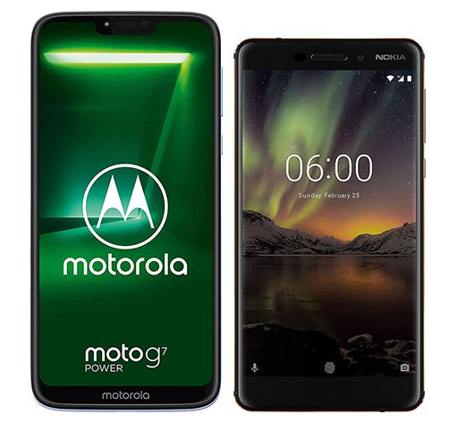 Smartphone Comparison: Motorola moto g7 power vs Nokia 6 1