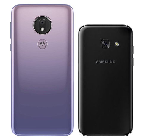 Moto G7 Power vs Galaxy A3 (2017). View of main cameras