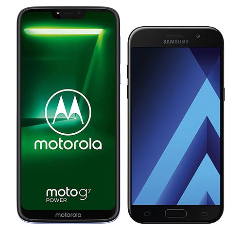 Smartphone Comparison: Motorola moto g7 power vs Samsung galaxy a5 2017