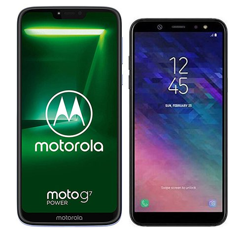 Smartphone Comparison: Motorola moto g7 power vs Samsung galaxy a6