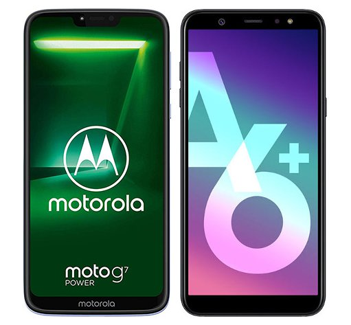 Smartphone Comparison: Motorola moto g7 power vs Samsung galaxy a6 plus