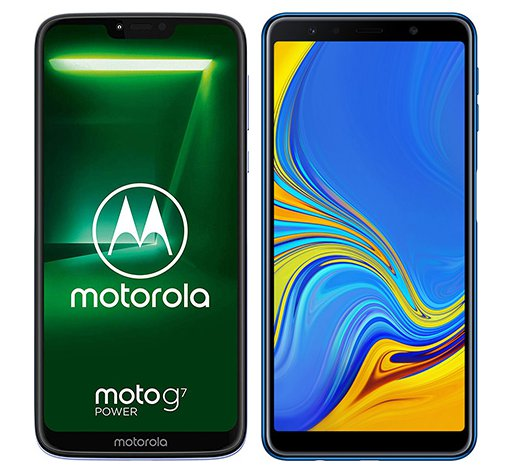 Smartphone Comparison: Motorola moto g7 power vs Samsung galaxy a7 2018