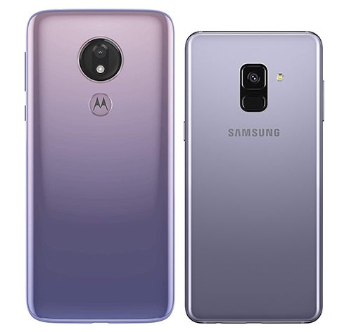 Moto G7 Power vs Galaxy A8. View of main cameras