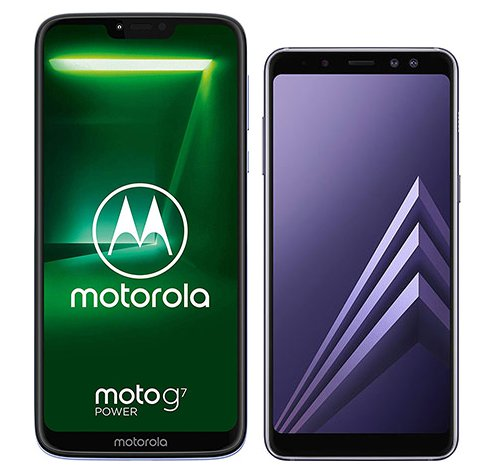 Smartphone Comparison: Motorola moto g7 power vs Samsung galaxy a8