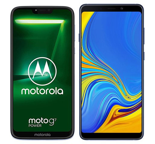 Smartphone Comparison: Motorola moto g7 power vs Samsung galaxy a9