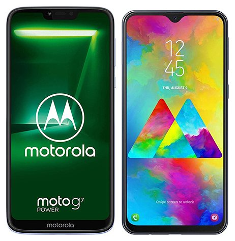Smartphone Comparison: Motorola moto g7 power vs Samsung galaxy m20