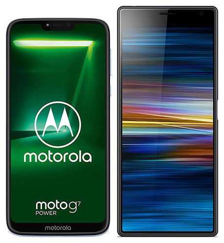 Smartphone Comparison: Motorola moto g7 power vs Sony xperia 10 plus