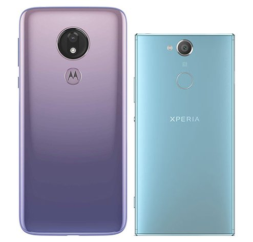 Moto G7 Power vs Xperia XA2. View of main cameras