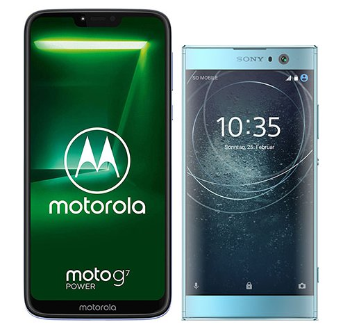 Smartphone Comparison: Motorola moto g7 power vs Sony xperia xa2