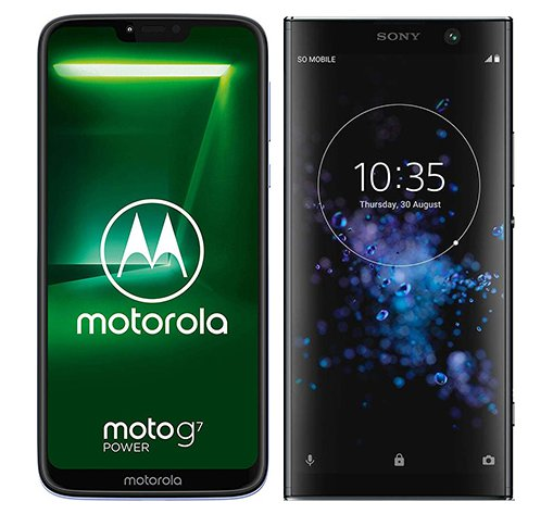Smartphone Comparison: Motorola moto g7 power vs Sony xperia xa2 plus