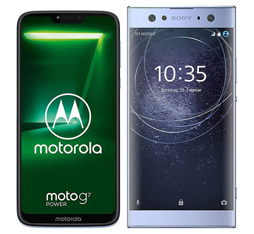 Smartphone Comparison: Motorola moto g7 power vs Sony xperia xa2 ultra
